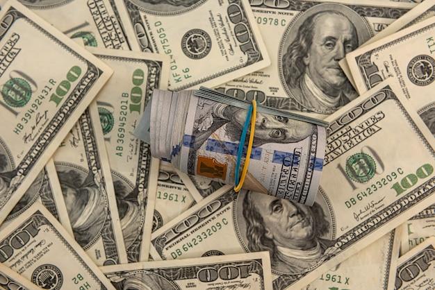 Geldachtergrond, amerikaanse dollarbiljetten