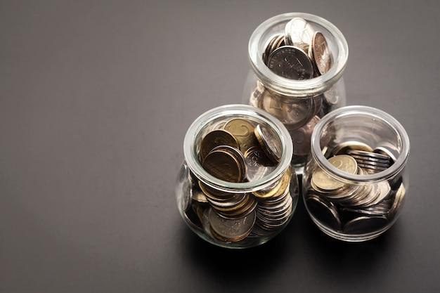 Geldpot met munten
