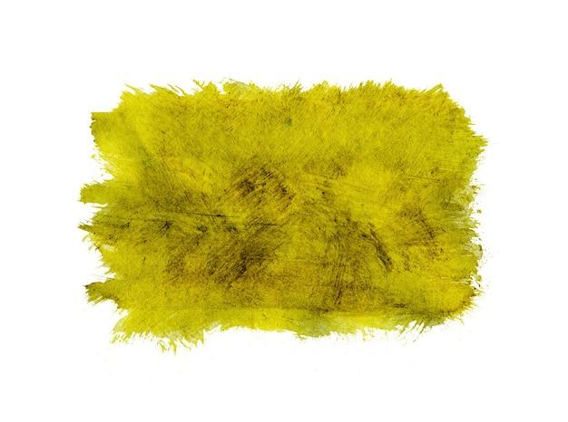 Gele aquarel abstracte achtergrond of textuur geïsoleerd