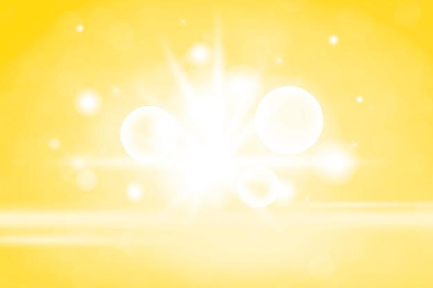 Gele bokeh getextureerde effen productachtergrond