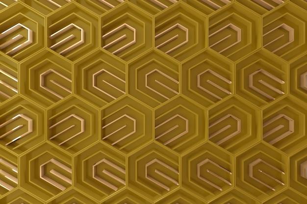 Gele driedimensionale achtergrond