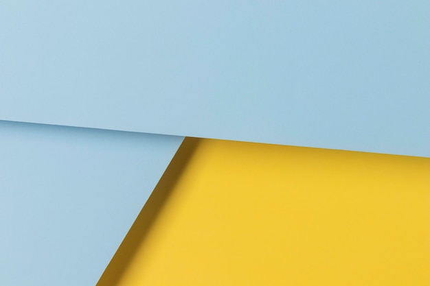 Gele en blauwe kasten