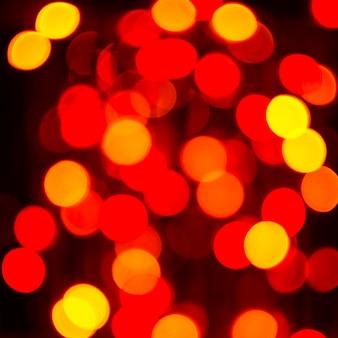 Gele en rode gloeilamp, vierkant