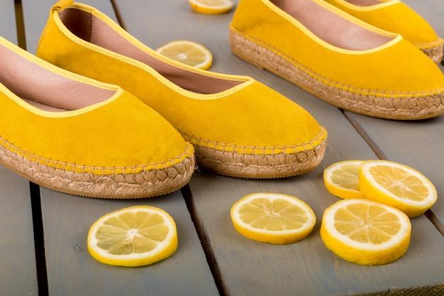 Gele espadrilles schoenen