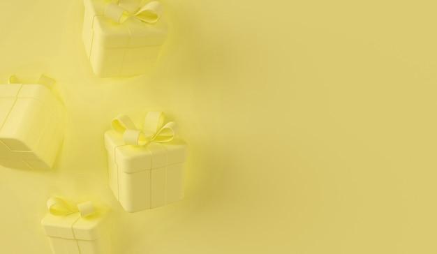 Gele geschenkdoos scène