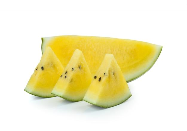 Gele gesneden watermeloen