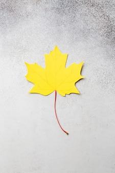 Gele herfst esdoorn bladeren papier ambachtelijke concept. hoge kwaliteit foto