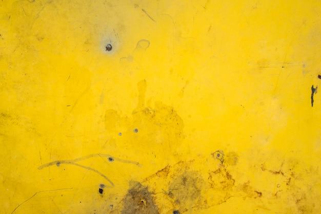 Gele het metaal roestige textuur van het plaatstaal voor achtergrond
