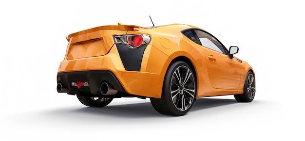 Gele kleine sportwagencoupé