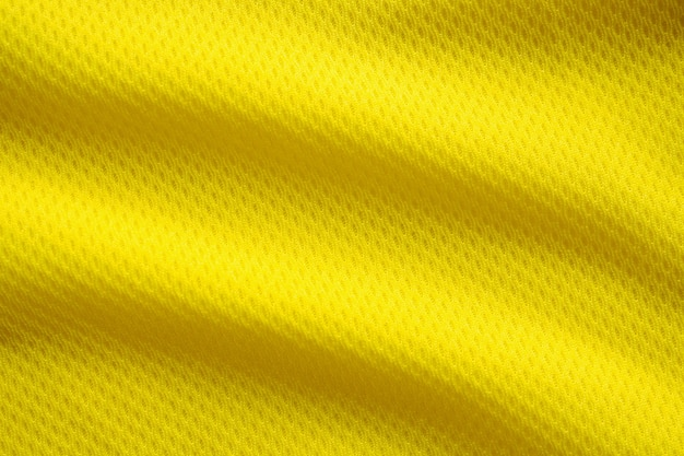 Gele kleur voetbal jersey kleding stof textuur sportkleding
