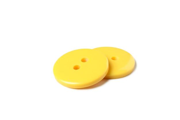 Gele knoppen geïsoleerd op wit