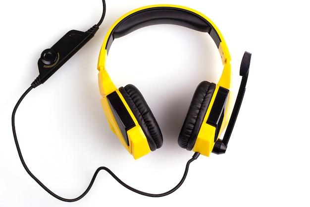 Gele koptelefoon