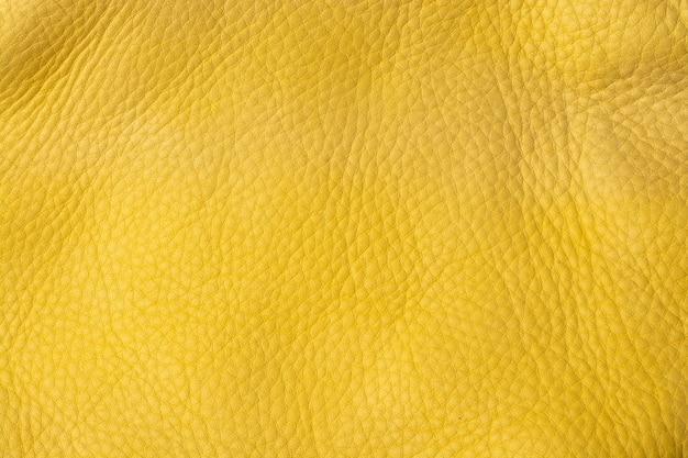 Gele lederen textuur.