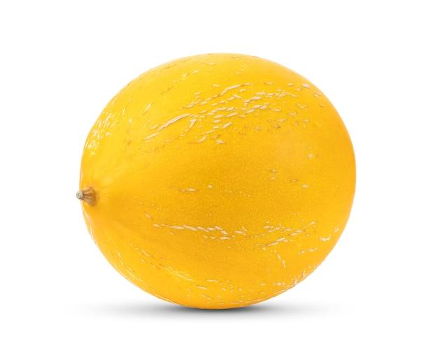 Gele meloen geïsoleerd op een witte achtergrond