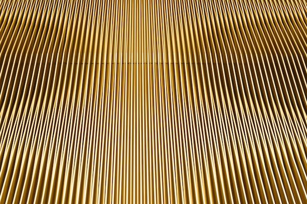 Gele moderne architectuur met lijnen