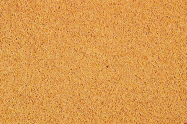 Gele mosterdzaden als achtergrondtextuur