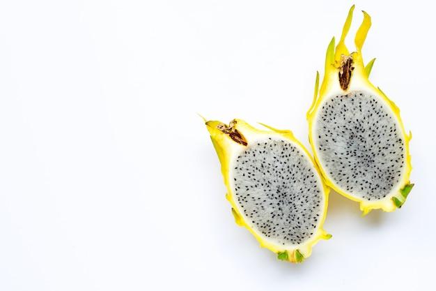 Gele pitahaya of drakenfruit.