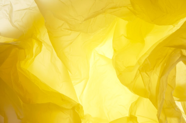 Gele plastic zaktextuur