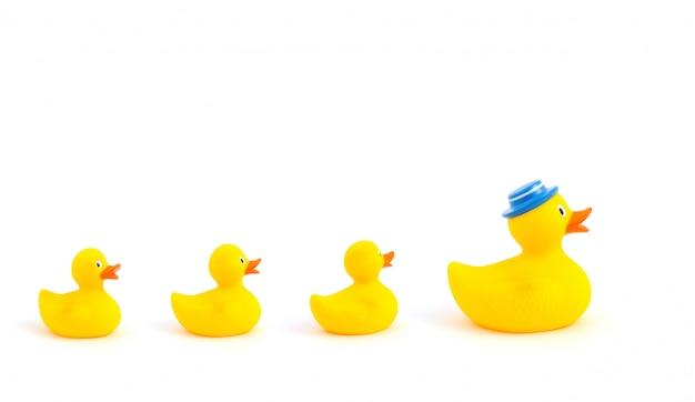 Gele speelgoedeenden
