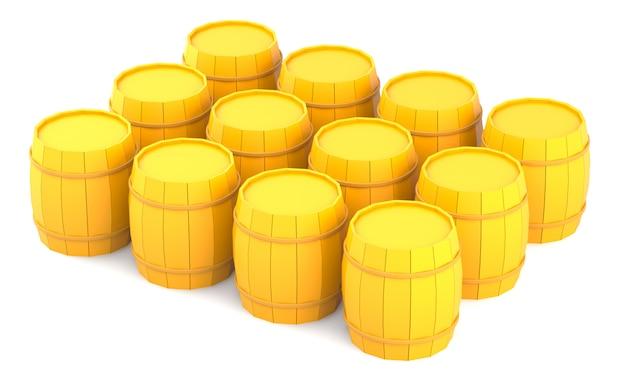 Gele vaten