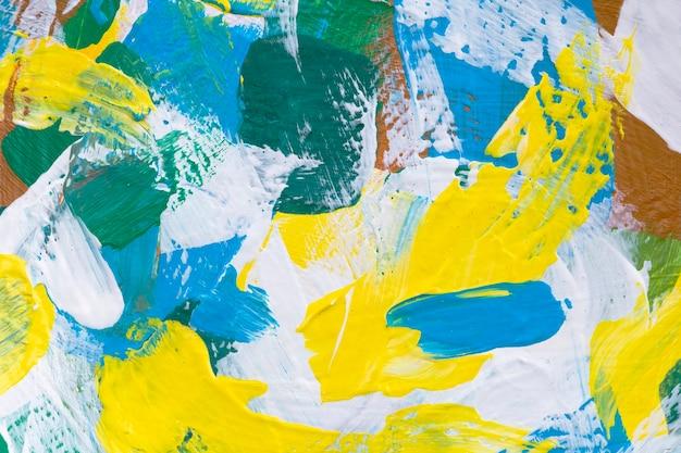 Gele verf getextureerde achtergrond abstracte handgemaakte experimentele kunst