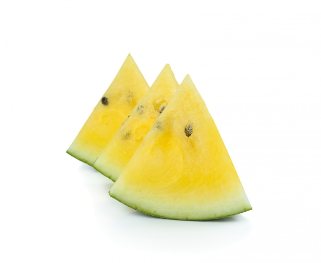 Gele watermeloen geïsoleerd