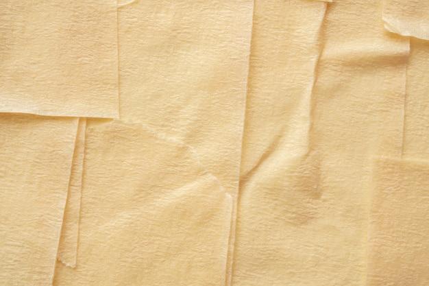 Gele zelfklevende papieren tape textuur achtergrond