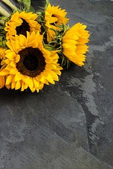 Gele zonnebloem