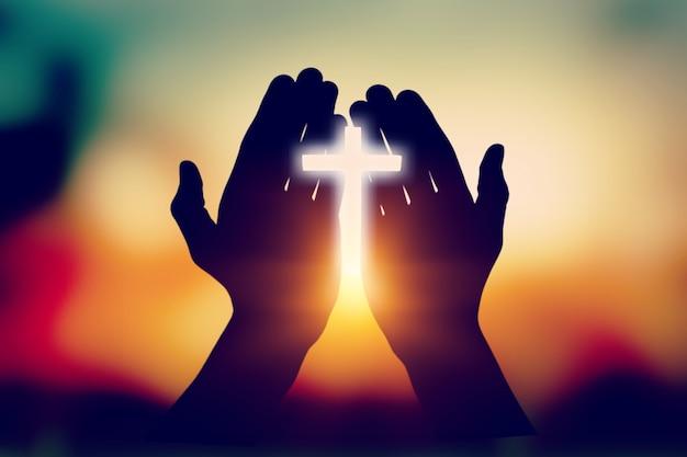 Geloof god bidden volwassen achtergrond bed geloof
