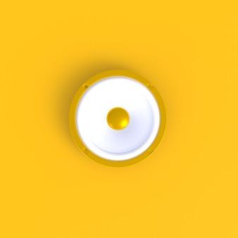 Geluidspreker abstracte minimale gele achtergrond