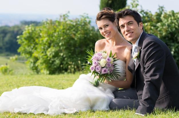 Gelukkig getrouwd stel