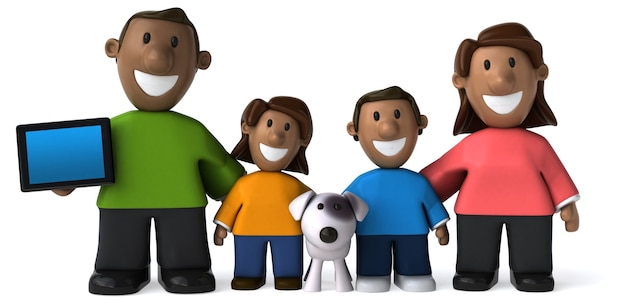 Gelukkig gezin - 3d illustratie