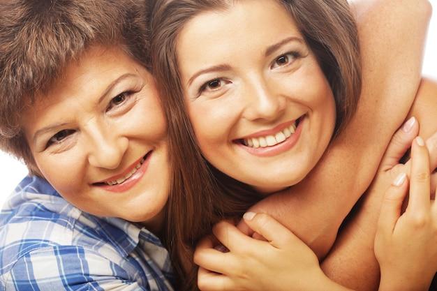 Gelukkig gezin. moeder en dochter concept