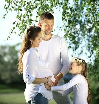 Gelukkig gezin vader en dochter