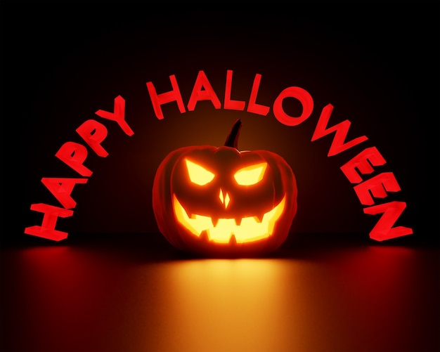 Gelukkig halloween 3d-rendering achtergrondafbeelding