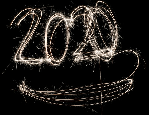 Gelukkig nieuw jaar 2020 schittert