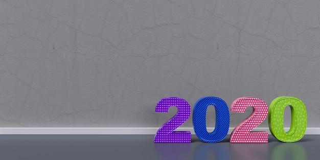 Gelukkig nieuwjaar 2020 3d weergegeven