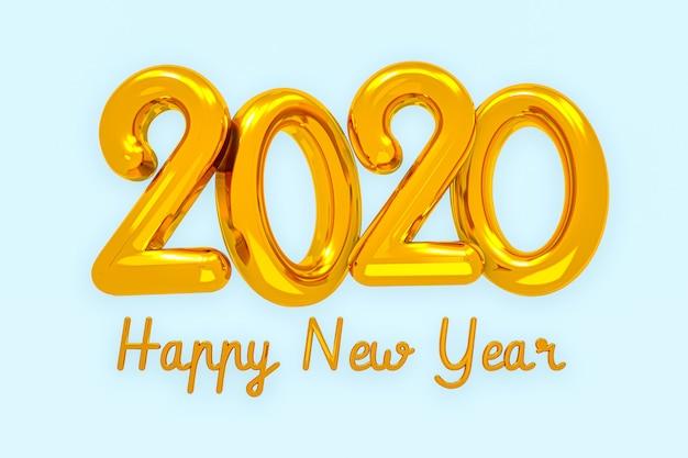 Gelukkig nieuwjaar 2020 creatief ontwerpconcept, wenskaart