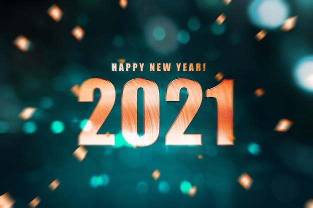 Gelukkig nieuwjaar 2021. Premium Foto