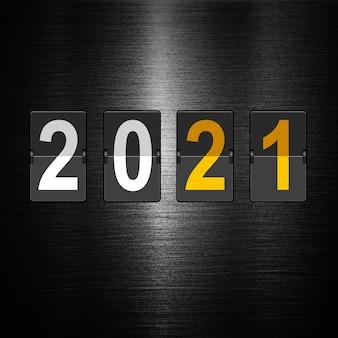 Gelukkig nieuwjaar achtergrond. start in 2021. 3d illustratie