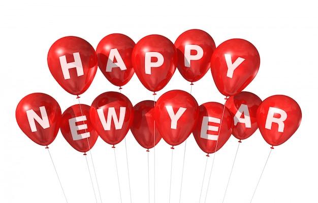 Gelukkig nieuwjaar ballonnen