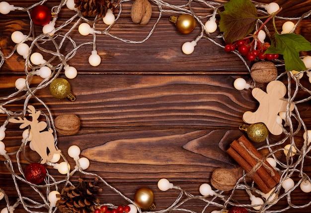 Gelukkig nieuwjaar en kerstmis op vakantieachtergrond. kerstvakantie