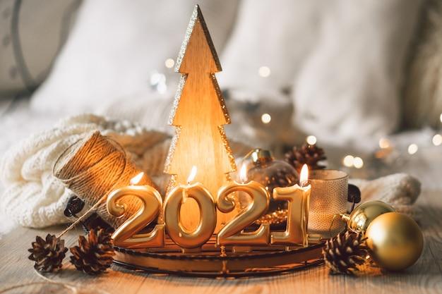 Gelukkig nieuwjaar huisdecoraties