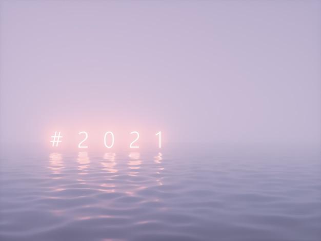 Gelukkig nieuwjaar neon tekstachtergrond
