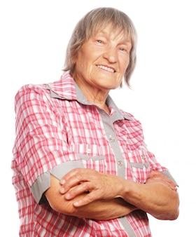 Gelukkig senior vrouw