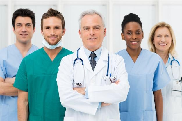 Gelukkig team van artsen