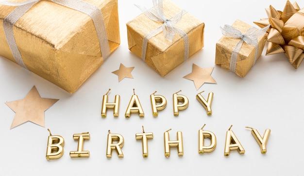 Gelukkig verjaardagsbericht voor feest en geschenken