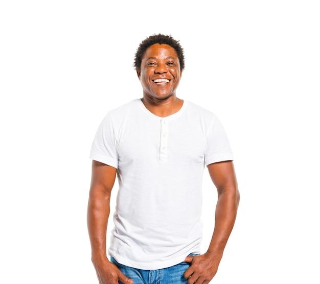 Gelukkige afrikaanse man