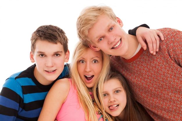 Gelukkige broers en zussen samen