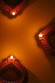 Gelukkige diwali-olielamp